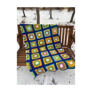 Vintage Granny Square Blanket Crotchet